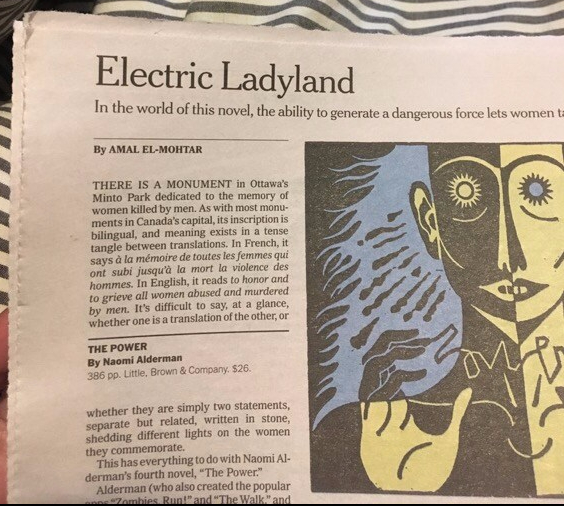 NYT Review: THE POWER by Naomi Alderman   Amal El-Mohtar